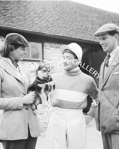 Fred Winter (Jump Jockey) with 2 persons